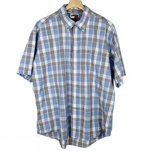 Tommy Hilfiger Short Sleeve Plaid Shirt XL